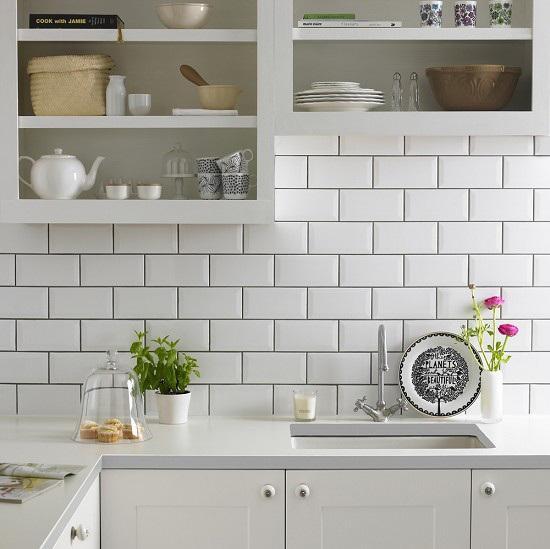 Azulejos biselados en la cocina paperblog - Azulejos cocina ...