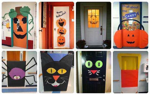 Recursos ideas para decorar en halloween paperblog for Imagenes puertas decoradas halloween