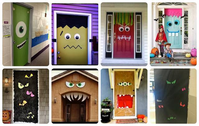 Recursos ideas para decorar en halloween paperblog for Puertas decoradas halloween calabaza