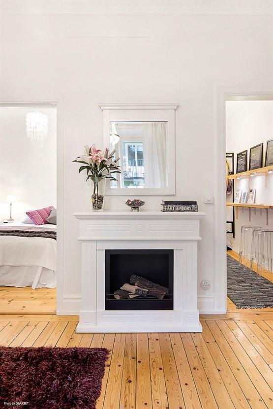 Aprovechar el espacio al m ximo la cocina en el pasillo - Chimenea piso pequeno ...