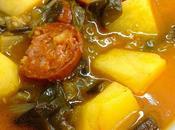 Acelgas tomate chorizo