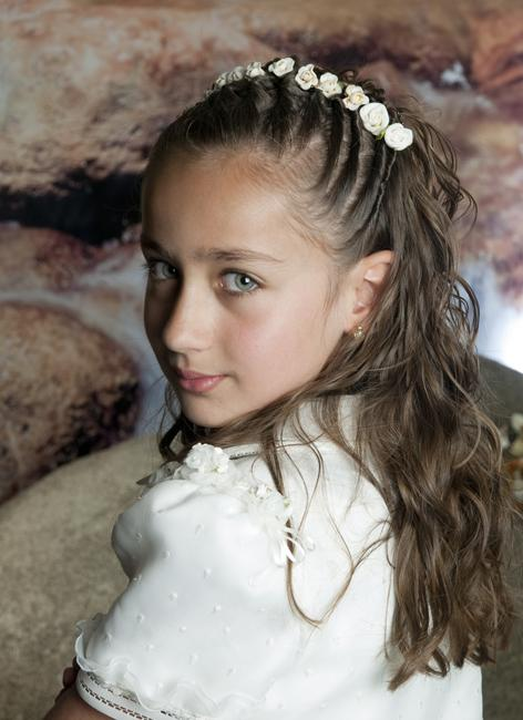 Peinados para primera comuni n fotos paperblog - Peinados sencillos para comunion ...