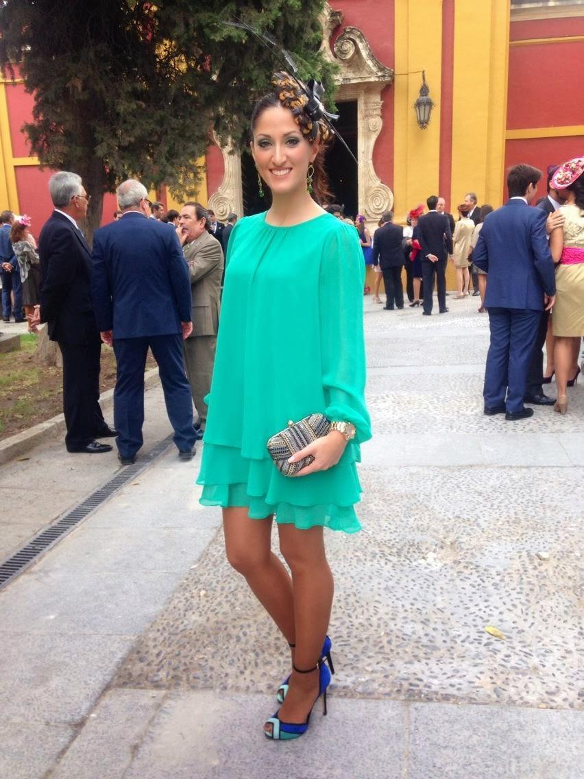 Vestido verde boda dia