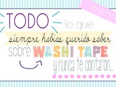 ¿qué washi tape?