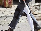 Roll pantalones enrollados