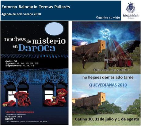Agenda-ocio-Balneario-Termas Pallarés verano 2010 familia
