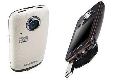 Samsung HMX-E10, videocámara compacta que integra una lente que gira