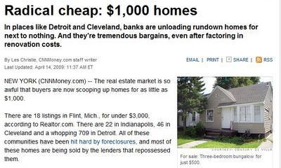 Anuncio de casas baratas en USA