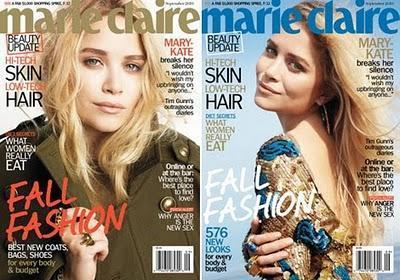 Mary-Kate  Olsen, en portada de Marie Claire USA, Septiembre 2010