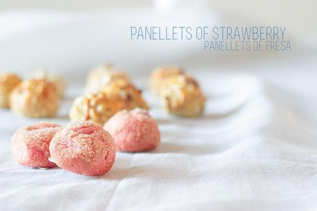Panellets of strawberry - All Saints'day