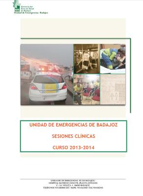CALENDARIO DE SESIONES CLINICAS UNIDAD DE EMERGENCIAS DE BADAJOZ