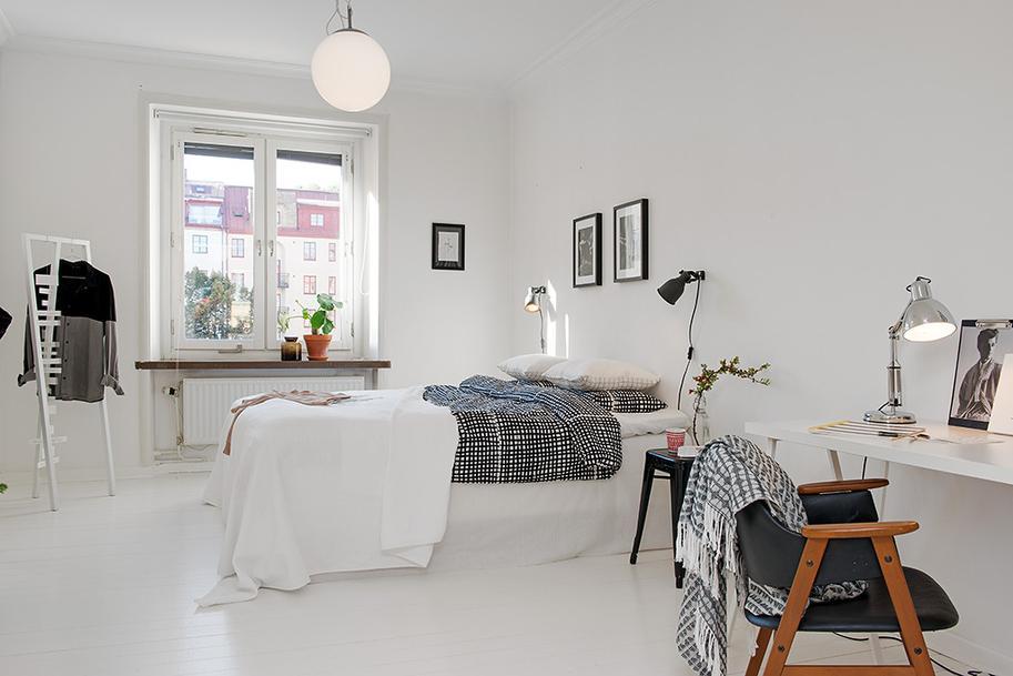 Dormitorio con una peque a zona de trabajo paperblog for Revistas decoracion dormitorios