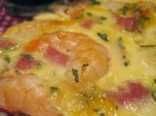 Quiche gambas bacon