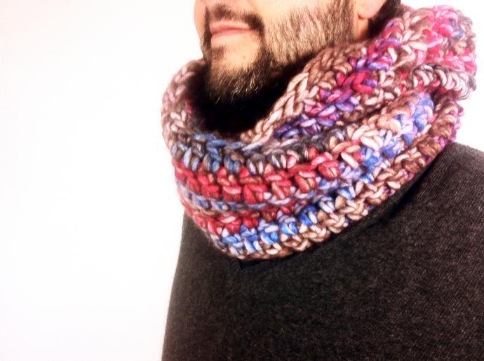 DIY tutorial como hacer una bufanda infinita a ganchillo crochet