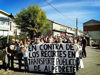 Sigue la lucha por el transporte público en Alpedrete