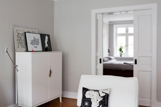 Paredes grises muebles blancos suelo de madera paperblog for Muebles blancos ikea