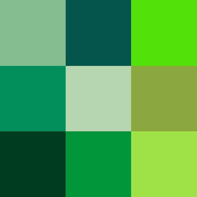 Tonos de verde con nombre imagui - Colores que combinan con el verde botella ...