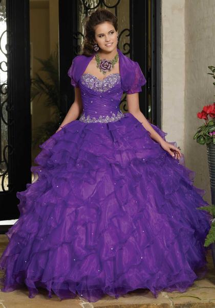 67e1bf294 Vestidos de 15 años color morado - Paperblog