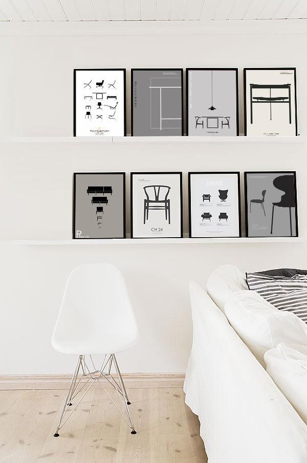 Sillas icónicas por las paredes: Los pósters de PK Copenhagen