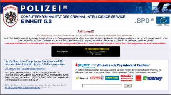 Virus de la policia bloquea tu navegador de Alemania