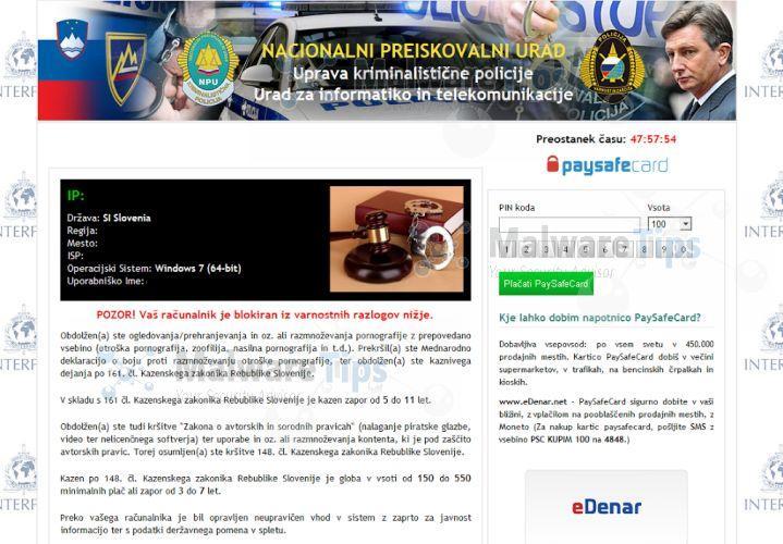 Virus de la policia bloquea tu navegador de Croacia