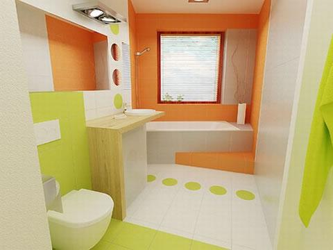 lindos ba os en verde y naranja paperblog