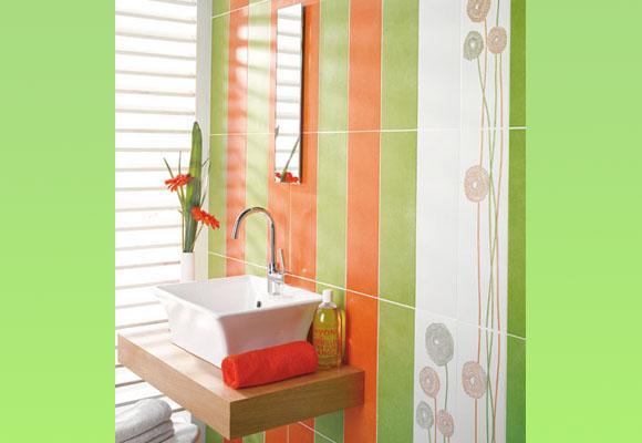 Accesorios Baño Verde:Lindos baños en verde y naranja – Paperblog