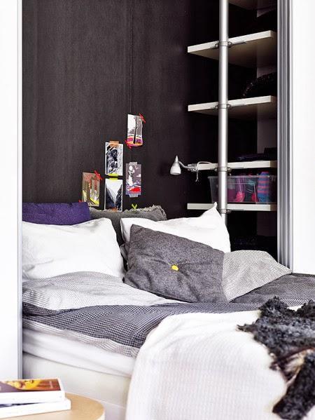 Dise o para un dormitorio peque o paperblog - Mesillas estrechas ...