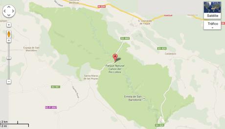 Plano Cañón Río Lobos