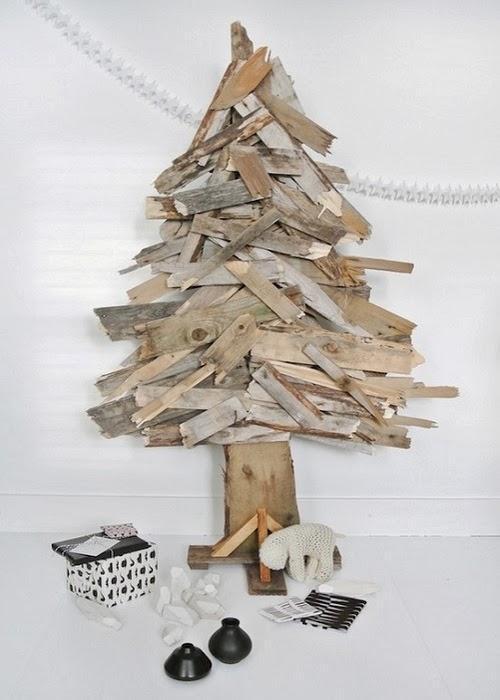 Arboles de navidad con materiales ecologicos paperblog - Arboles de navidad de madera ...