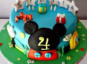 Tarta casa Mickey Mouse