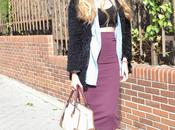 Midi skirt, cropped booties