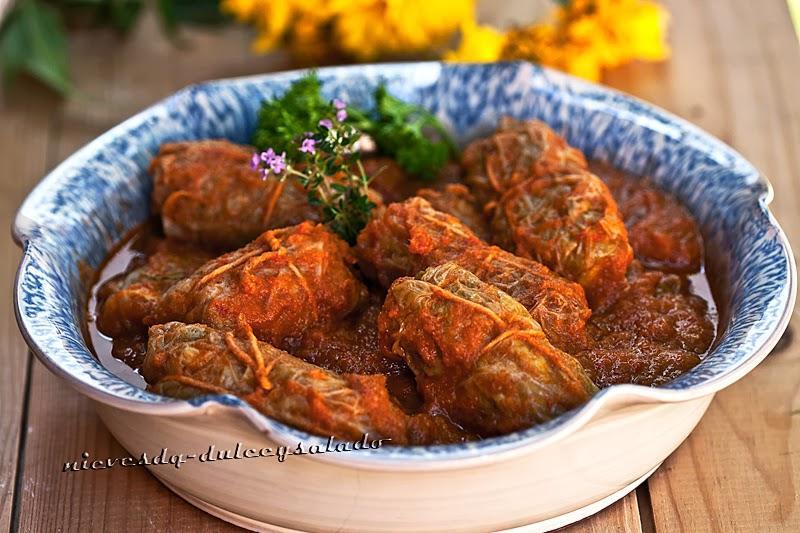Repollo relleno de carne picada paperblog - Salsa para relleno de carne ...