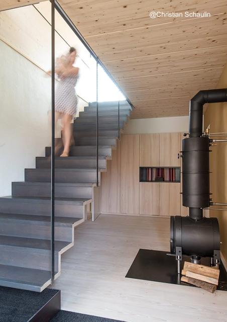 Residencia moderna campestre de dos cuerpos en alemania paperblog - Casas con escaleras interiores ...