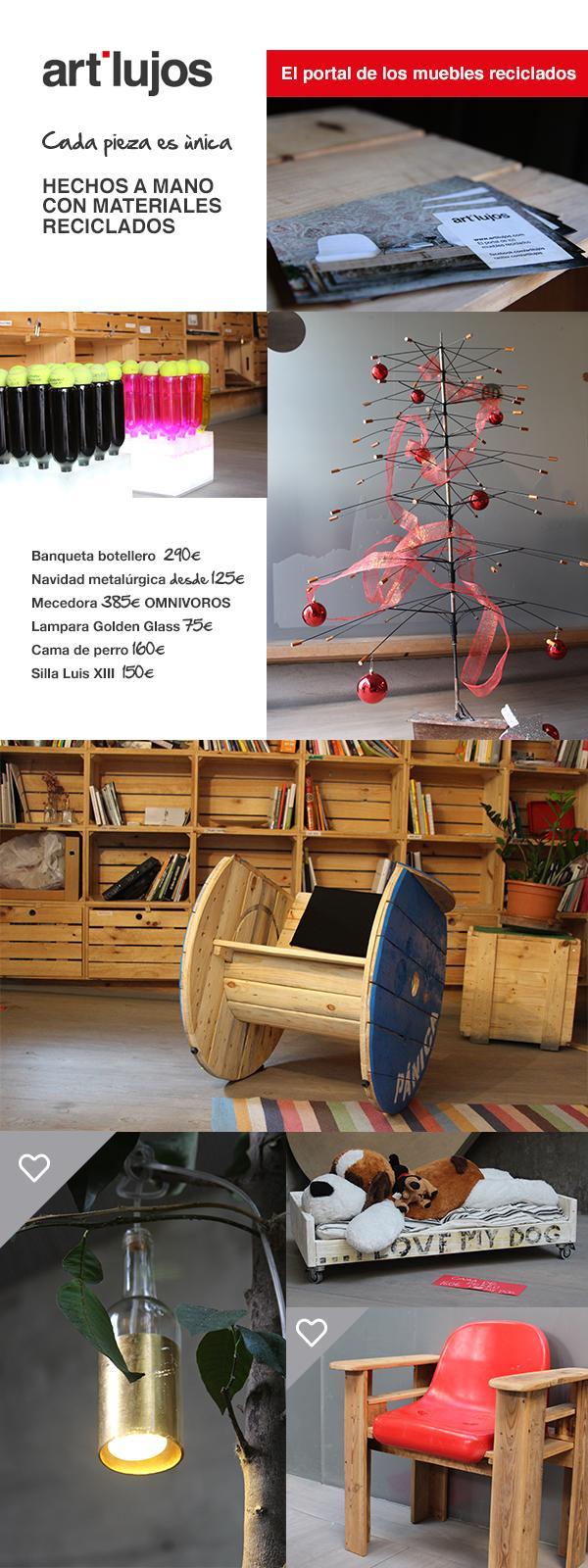 Artilujos un nuevo portal de muebles reciclados paperblog - Muebles originales reciclados ...