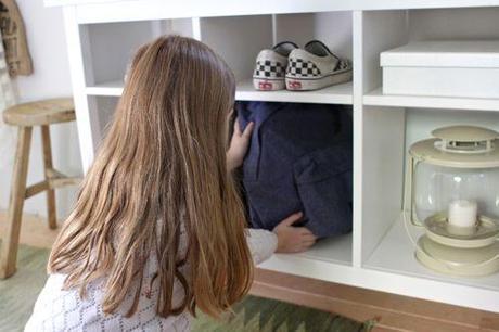 Aproveche el espacio no utilizado - Mesa para sofá volvió Organizador Pasillo.