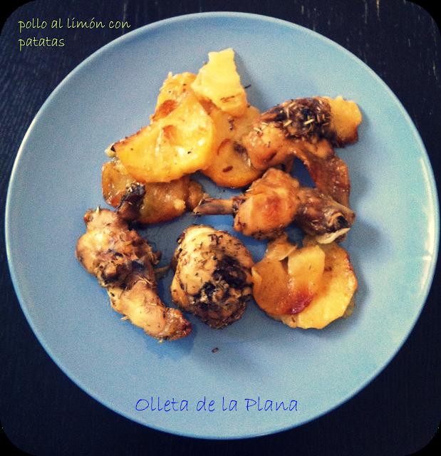 Pollo al lim n con patatas al horno paperblog - Pollo al horno con limon y patatas ...
