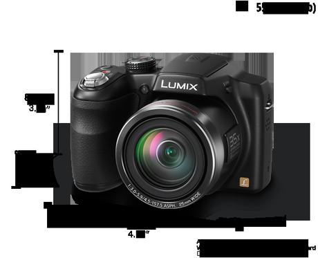 Panasonic Lumix DMC-LZ30 tamano