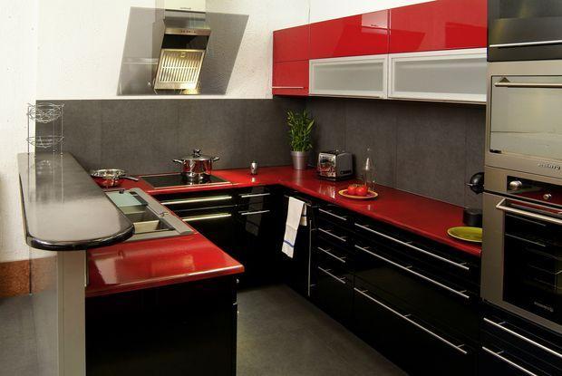 Cocinas galeras para espacios reducidos paperblog - Cuisine moderne rouge et noir ...