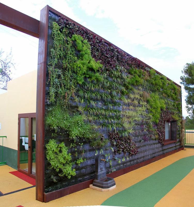 Jard n vertical educativo en mallorca paperblog for Jardin vertical de fieltro en formato kit