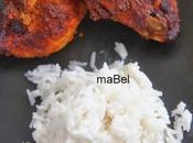 Tandoori pollo arroz leche coco