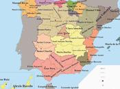 Mapa provincial literario España