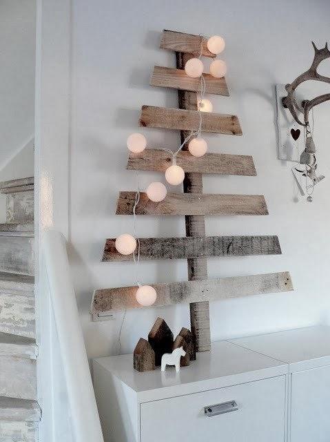 arboles de navidad en la pared