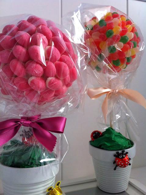 Arboles de chuches candy trees paperblog - Adornos con chuches ...