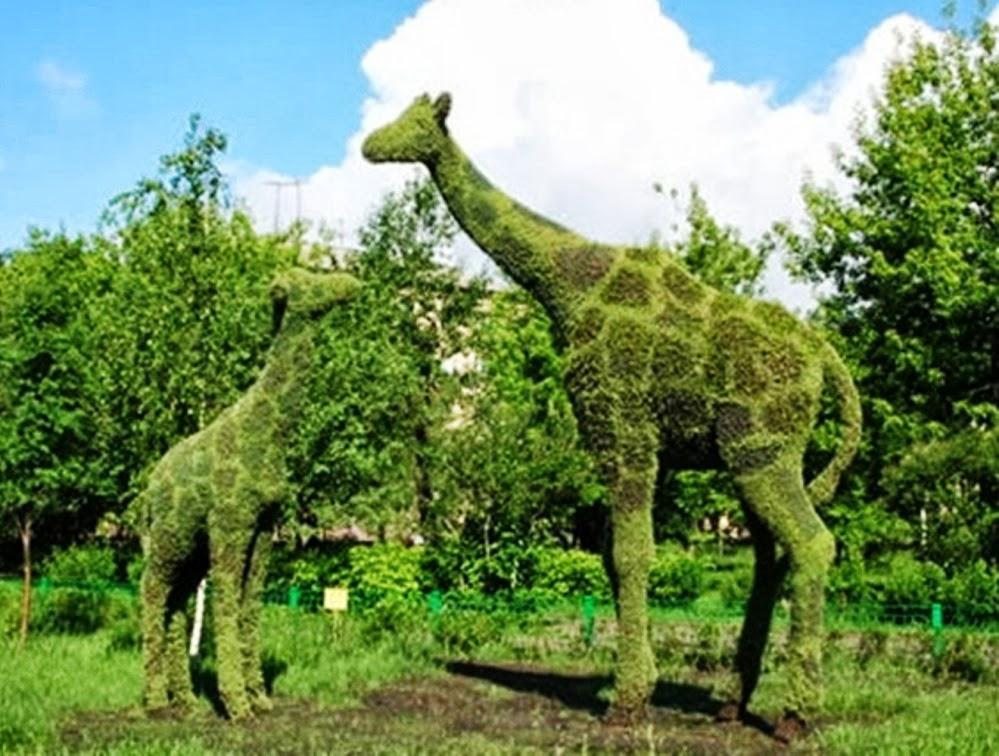 Jardines con figuras de animales y de paperblog for Figuras para jardines