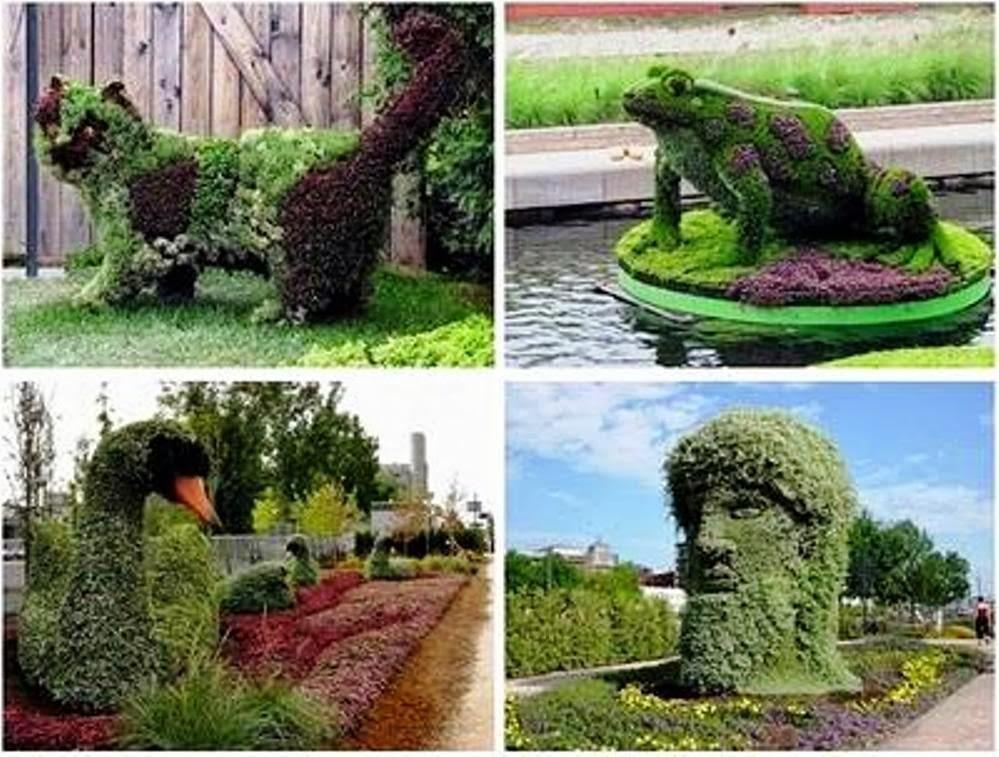 Jardines con figuras de animales y de paperblog for Figuras para el jardin