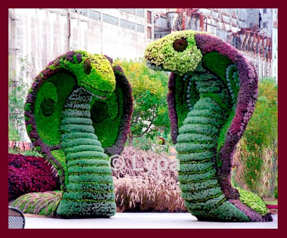 Jardines con figuras de animales y de paperblog for Figuras para jardin zen