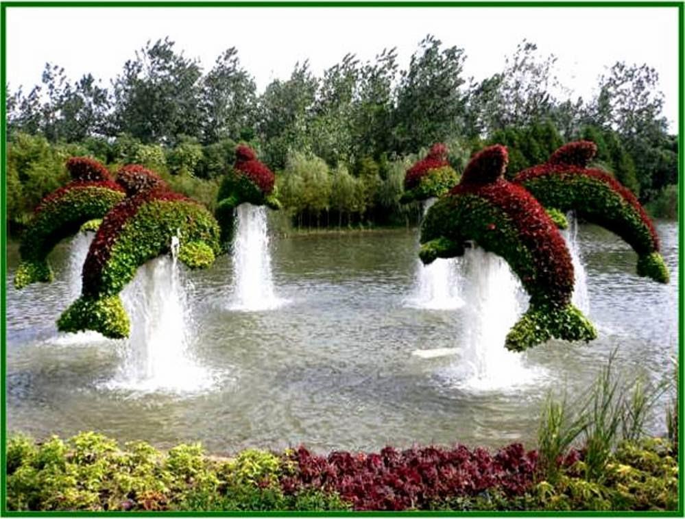 Jardines con figuras de animales y de paperblog for Figuras para jardin