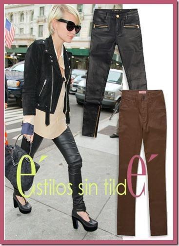 ashlee simpson thumb Los pantalones de cuero son los jeans actuales