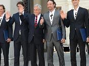 Presidente piñera recibió destacados tenistas chilenos internacionales